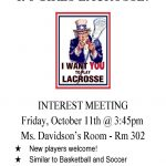 Girls Lacrosse Interest Meeting