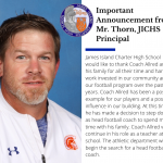 JICHS Football Coach Message