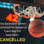 Basketball Game Tonight – CANCELLED