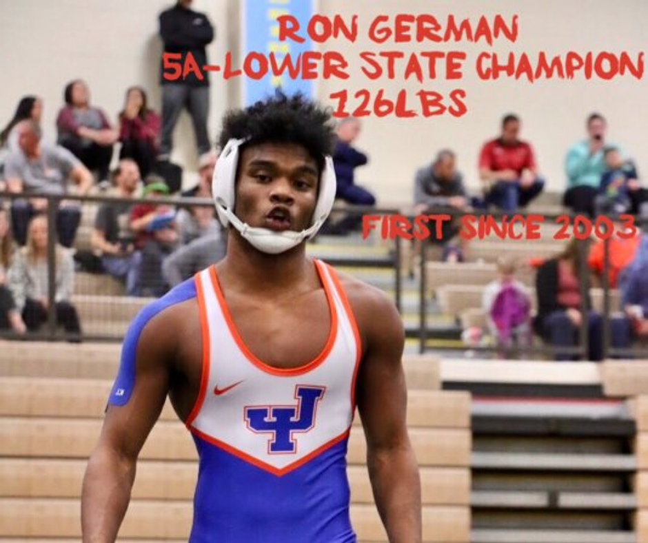 German Wins 5A Lower State Wrestling Championship