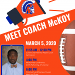 Come Meet Coach McKoy!