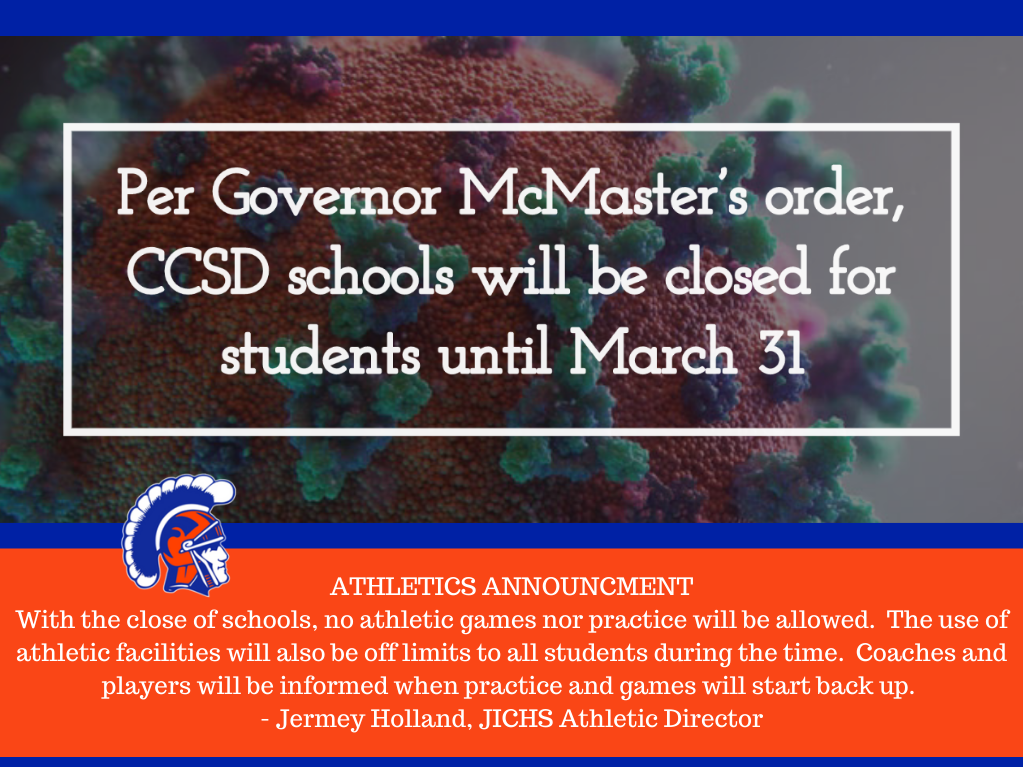 JICHS Athletics Practices and Games Update Due to School Closings