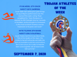 Athletes of the Week – September 7, 2020