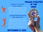 Trojan Athletes of the Week