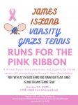 Girls Varsity Tennis – Runs for the Pink Ribbon
