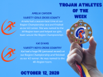 Trojan Athletes of the Week – 10/12/2020