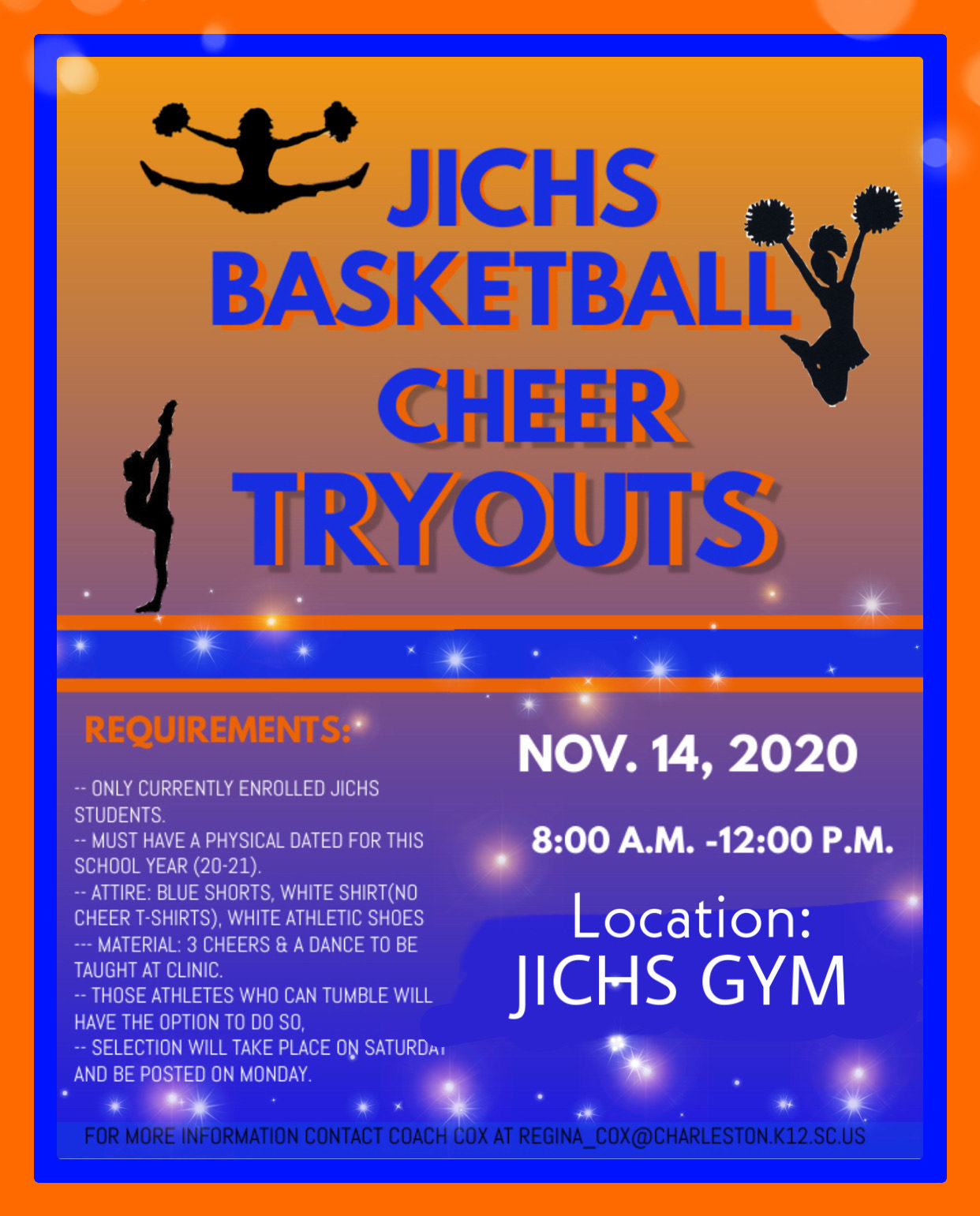 Basketball Cheer Tryouts