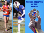 November Trojan Athletes of the Month