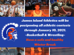 JICHS Athletics Postponed Through January 10, 2021