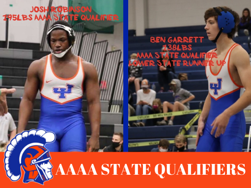 Congratulations to our Trojan AAAA State Wrestling Qualifiers