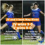 Girls Varsity Soccer beats May River 9 – 0