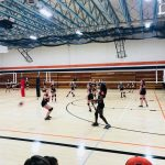 Girls 7th Grade Volleyball falls to Oskaloosa Middle School, South Tama Middle School 8 – 4