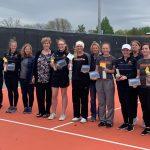Girls Varsity Tennis beats Oskaloosa 8 – 3