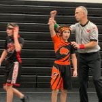 Grinnell Middle School Wrestling team continues to improve at Newton (16-11) with 14 wins by way of pin!!!