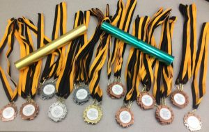 Medals from Oakville Relays