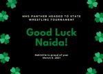 Good Luck Naida!