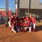 Varsity softball wins big