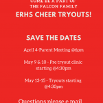 ERHS Cheer tryouts set for 2019-2020 school year