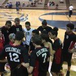 Colonial High School Boys Varsity Volleyball beat University High School 3-2