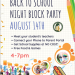 Back to School Night Block Party