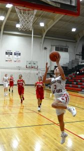 A lay-up during the girls basketball game against Ottawa.