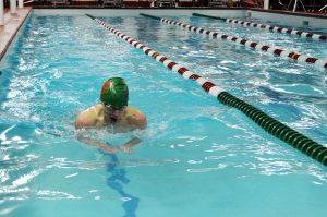 Members of the LP Co-op swimming team compete against Kewanee.