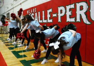 The Cavalettes perform during the pre-game activities.