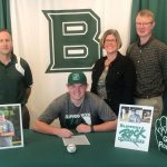Andy McClymonds signs with Slippery Rock University