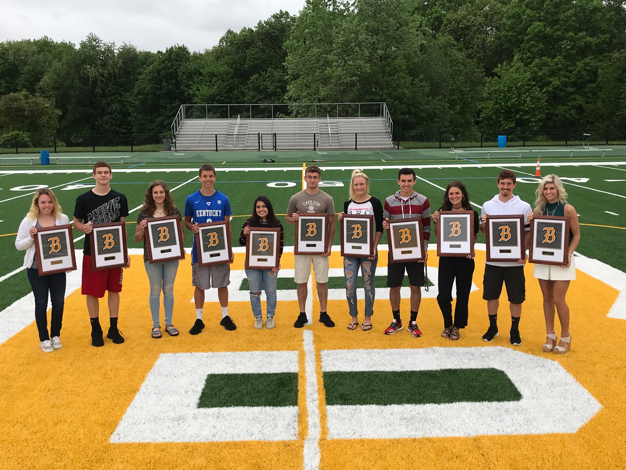 2017-2018 Three Sport Letter Winners