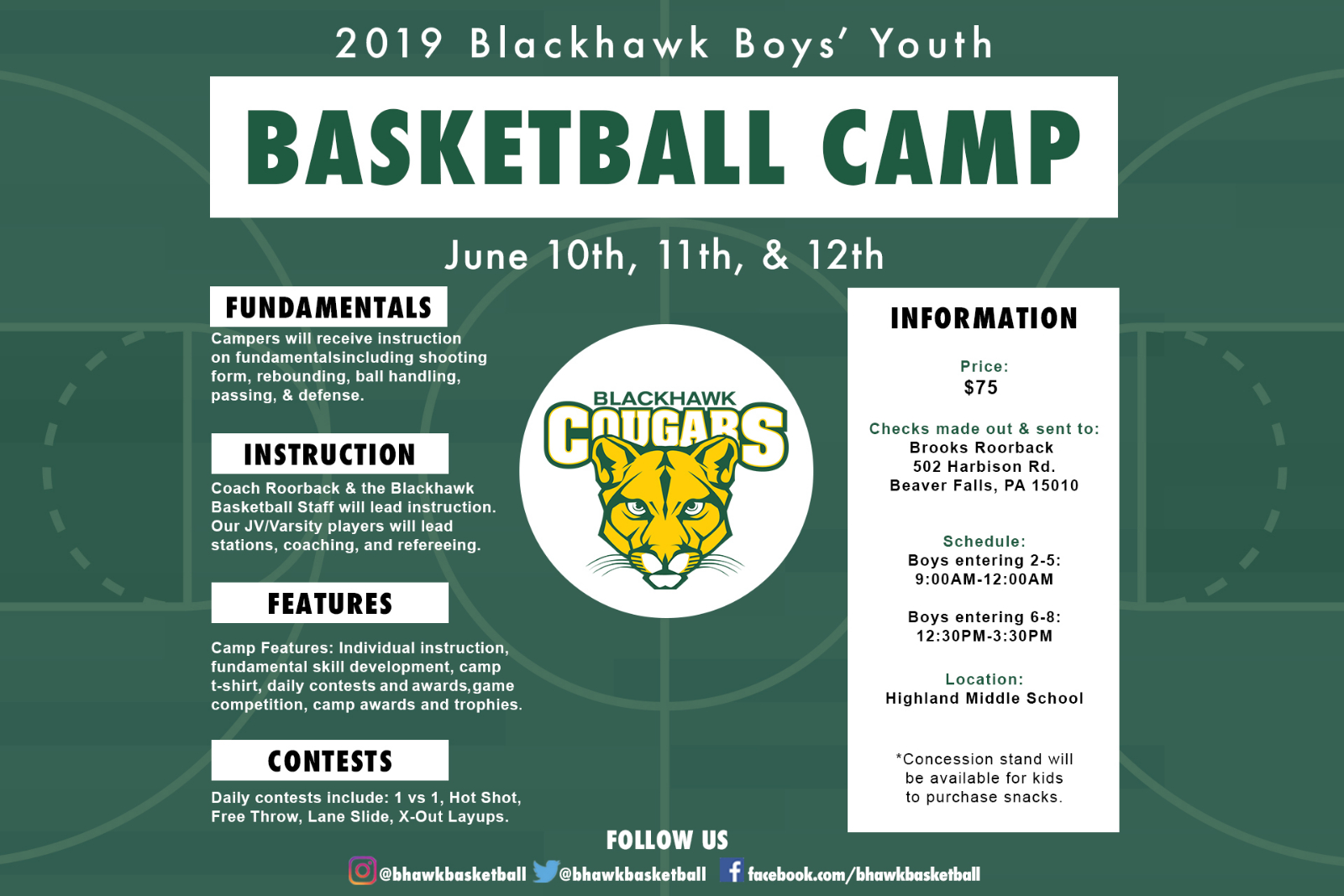 2019 Youth Basketball Camp Information