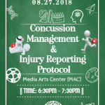Parent Education Series #1: Injury Protocol/Procedures & Concussion Info