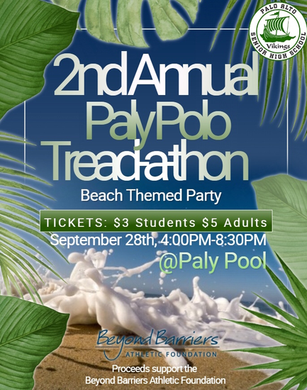 Paly Girls Water Polo, 2nd Annual Tread-A-Thon