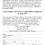 Boys soccer summer camp flyer
