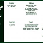 Green Wave Athletics Schedule Week of December 2nd