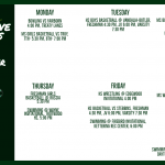 Green Wave Athletics Week of December 9th