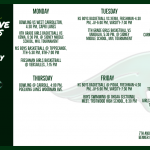 Athletic Schedule for the Week of February 3rd