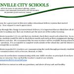 Greenville City Schools Update-3/18/20