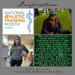 Our Athletic Trainer Alyse Grilliot and National Athletic Training Month