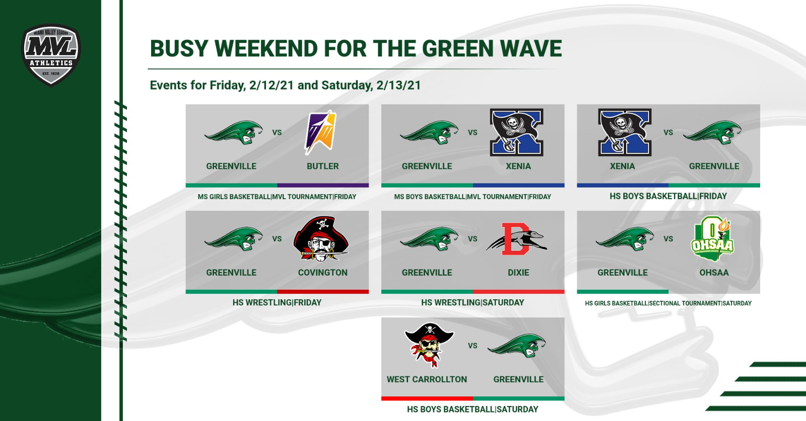 Busy Weekend for the Green Wave