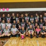 Pellston High School Girls Varsity Volleyball beat Cheboygan PINK OUT GAME 3-2