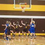 Pellston Girls 8th Grade Basketball falls to Gaylord St Mary 34-12