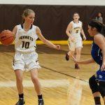 Pellston High School Girls Varsity Basketball falls to Gaylord St Mary 59-19