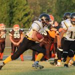 Pellston Middle School Football falls to Ogemaw Heights High School 25-22