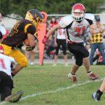Pellston Varsity Football beats Onaway 76 – 30