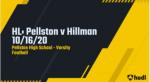 Varsity Football vs Hillman 10/16/20 Highlights