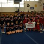 Salem High School Girls Varsity Sideline Cheer finishes 1st place