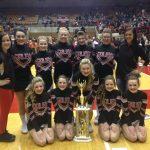 Salem High School Girls Varsity Sideline Cheer finishes 2nd place