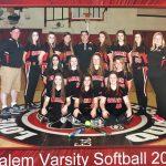 Salem High School Varsity Softball beat Warren G Harding High School 12-6