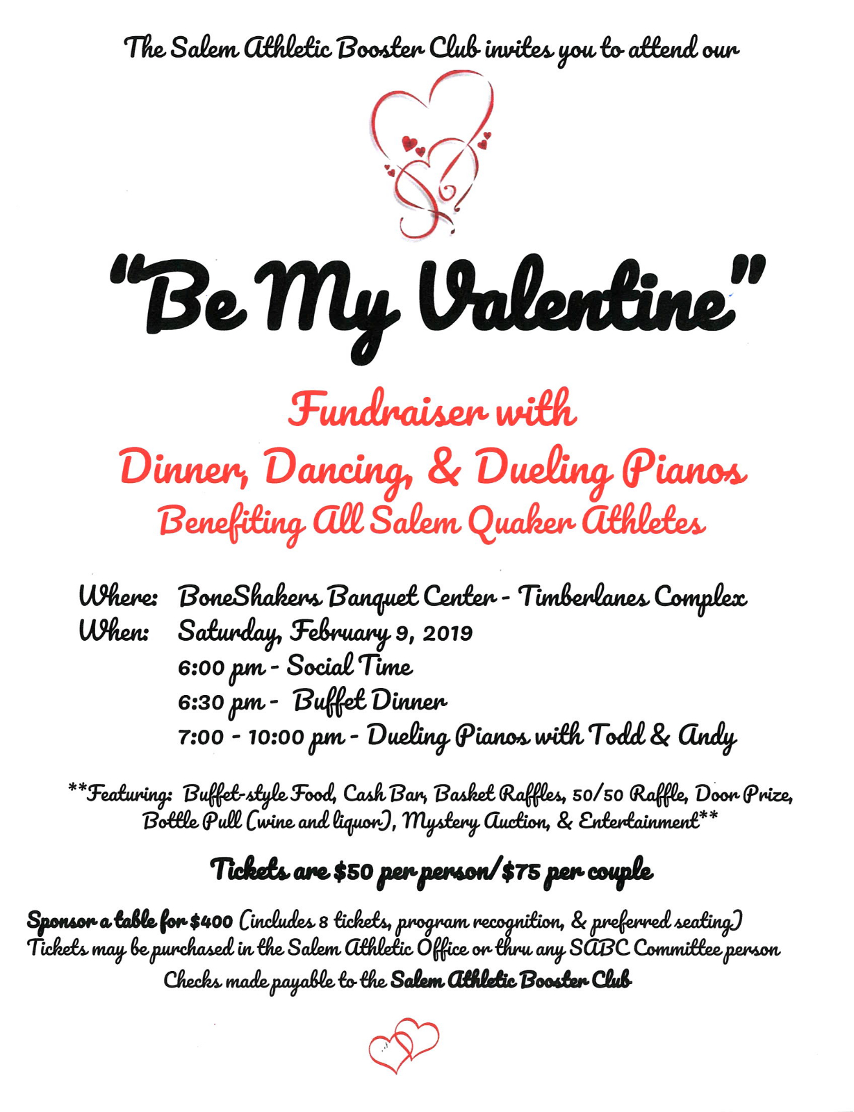 be my valentine fundraiser