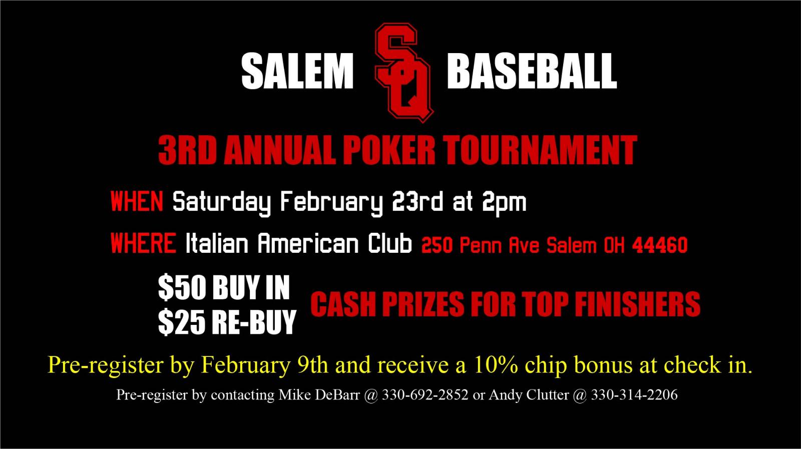 Salem Baseball Fundraiser